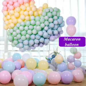 100Pcs-10inch-Macaron-Latex-Balloon-Celebration-Wedding-Birthday-Party-Decor