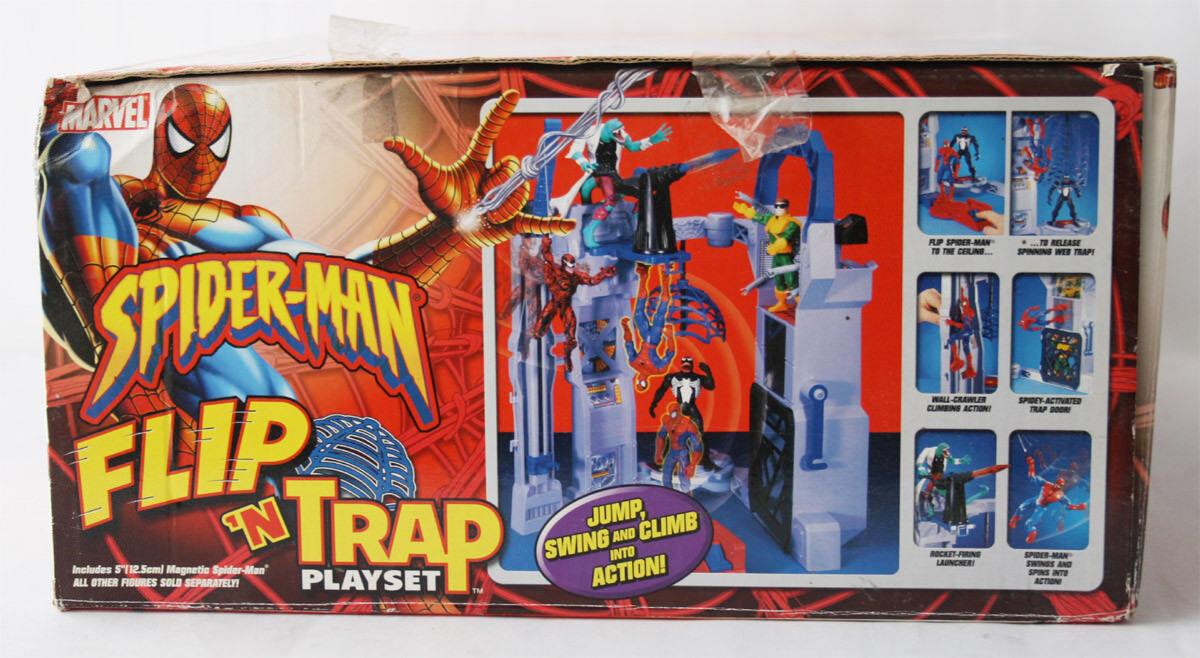 RARE 2004 SPIDERMAN FLIP N TRAP PLAYSET + JUMP N N N STICK MAGNETIC TOY BIZ NEW 8d4e5e