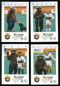 MISL-Soccer-L-A-Lazers-TRADING-CARD-team-set-GARCIA-LEE-SACKS-HARRIS-HUNTER-LEE