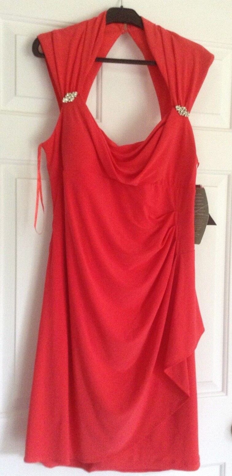 New With Tags Women's SCARLETT Tangerine Knee-Length Sheath Dress Size 16 dressy