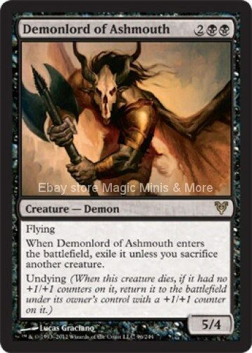 Avacyn Restored ~ DEMONLORD OF ASHMOUTH rare Magic the Gathering card