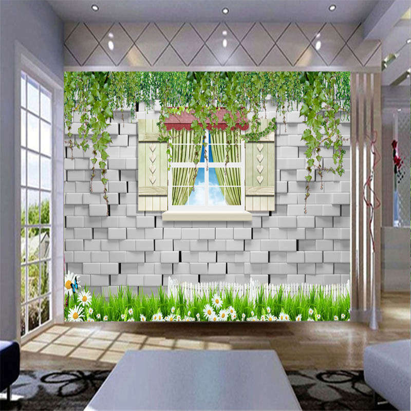 Clam Fresh Grassland 3D Full Wall Mural Photo Wallpaper Printing Home Kids Decor