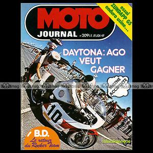 MOTO-JOURNAL-N-209-DAYTONA-ZUNDAPP-125-GS-SUZUKI-370-FREIN-LUCHIER-AGOSTINI-1975
