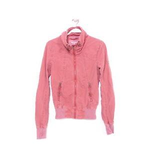 Details zu BENCH Jacke Blouson Damen Übergangsjacke Jacket Rot Gr. S 36