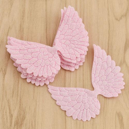 Engel Flügel Patch x10 DIY Kind Kleidung Tasche Deko Vergolden Nähen Kunstleder