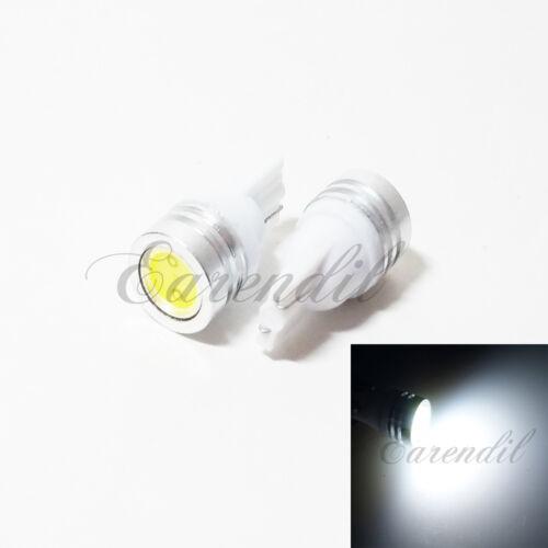 1 Pair Set of 2 pcs Tail Light T10 High Power White LED Light Bulb 194 168