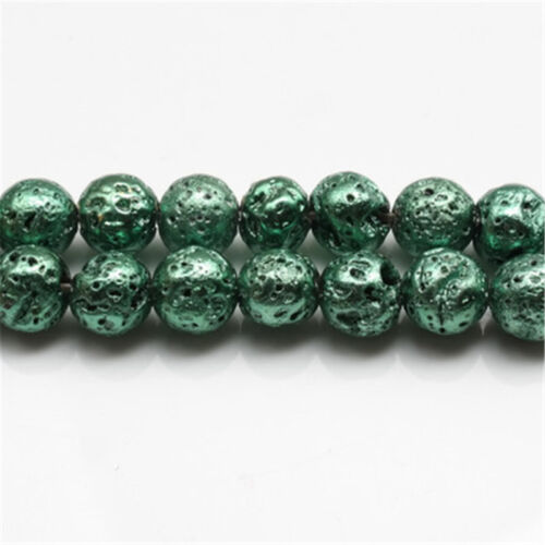Bulk Round Mixed Plated Volcano Bead Loose Spacer Bead DIY Jewelry Making 6-12mm