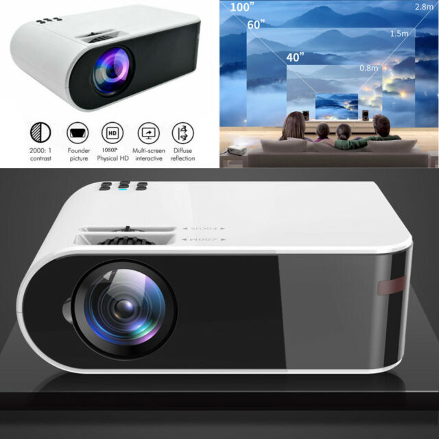 1080P 8000Lumens Portable LED Projector LCD HD Movie TV Video Home Theater