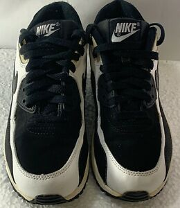 low priced 2642a 5be63 Image is loading Nike-Youth-Air-Max-90-Black-White-307793-