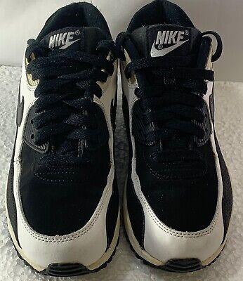 Nike Youth Air Max 90 Black White 307793 035 GirlsBoys Running Shoes 6.5Y | eBay