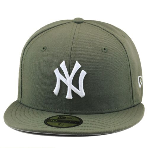 New Era New York Yankees Fitted Hat OLIVE GREEN//WHITE For air force 1