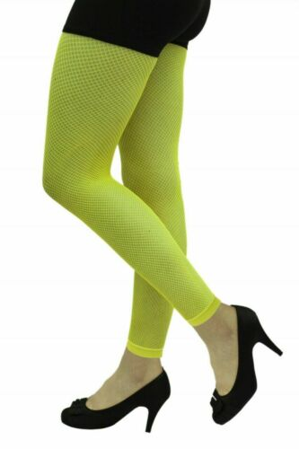 Ladies Neon 80/'s Opaque Tights Fancy Dress Costume Accessory Full Length Tights