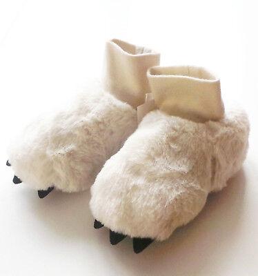 Pfoten Hausschuhe Gr.20 /21 H&M NEU Plüsch-Fell Schuhe baby beige