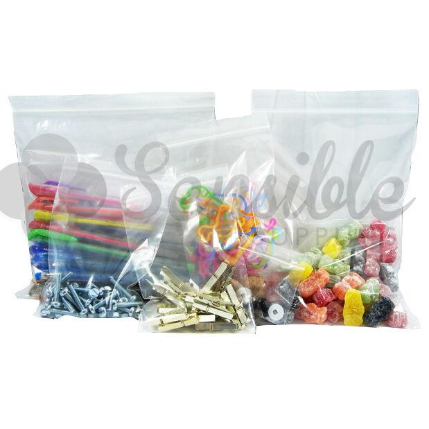 1000x GRIP SEAL SELF RESEALABLE PLASTIC BAGS 15  x 20