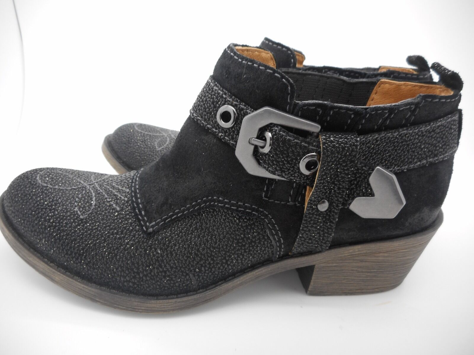 Women's Women's Women's Naya Selma Sparkling Western Black Suede Ankle Boots Size 5.5 M cfe759