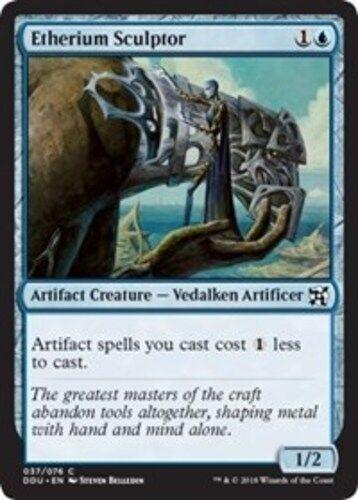 English Duel Decks 4x Etherium Sculptor NM-Mint Inventors MTG Magic Elves vs