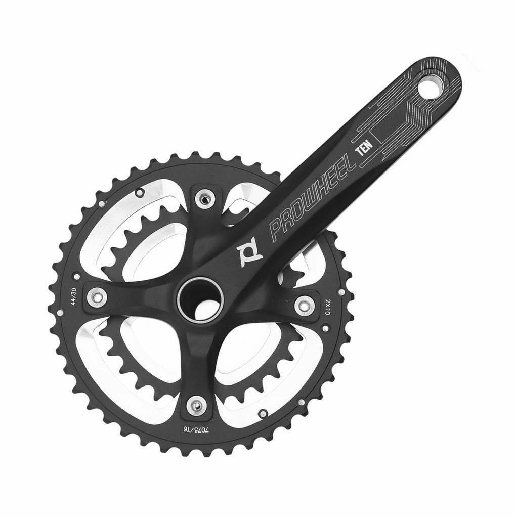 PROWHEEL Platos y bielas BTT MTB paseo 2x10 175mm 30 44 dientes bici bicicleta