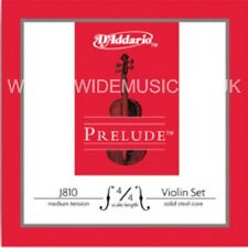 D'addario J810 Prelude Violin String Set, 4/4 Scale, Medium Tension