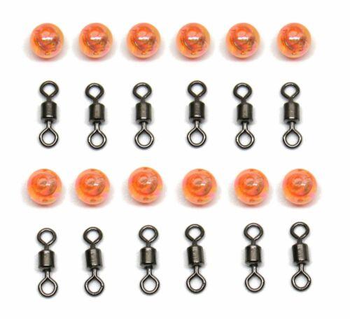 12 Carolina Rig perles pour... – 12 Rouleau émerillons 12 Pack Carolina pivotant Kit