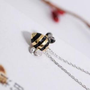 Biene-Anhaenger-Halskette-Charm-Insekt-Hummel-Arbeiter-Schmuck-Geschenk-P0W9-R2Y5