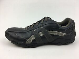 Skechers-Relaxed-Step-63385-Casual-Lace-Up-Sneakers-Men-s-Size-10-5-Black-2392
