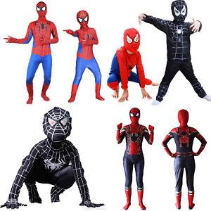superheld spiderman cosplay kost m jumpsuit maske kinder. Black Bedroom Furniture Sets. Home Design Ideas