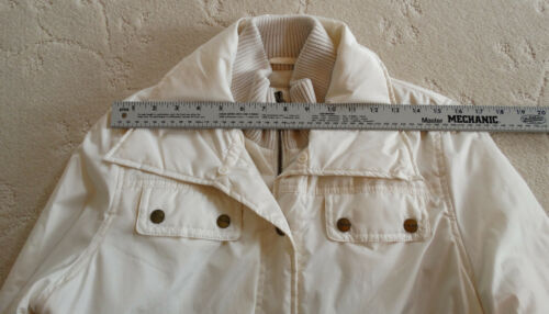 M Tahari Outerware Hvid Bomber Creme Blek Jacket Størrelse 6RxqAv0