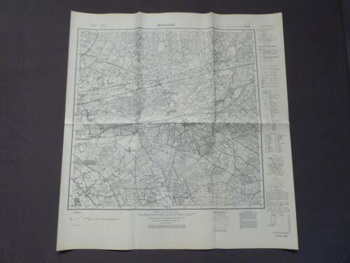 Landkarte Meßtischblatt 4306 Drevenack, Hünxe, Bruckhausen, um 1945