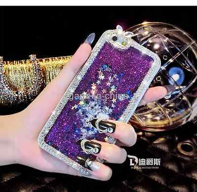 Liquid Glitter Water Sparkly Stars Bling Diamond Cover For iPhone Samsung Phones