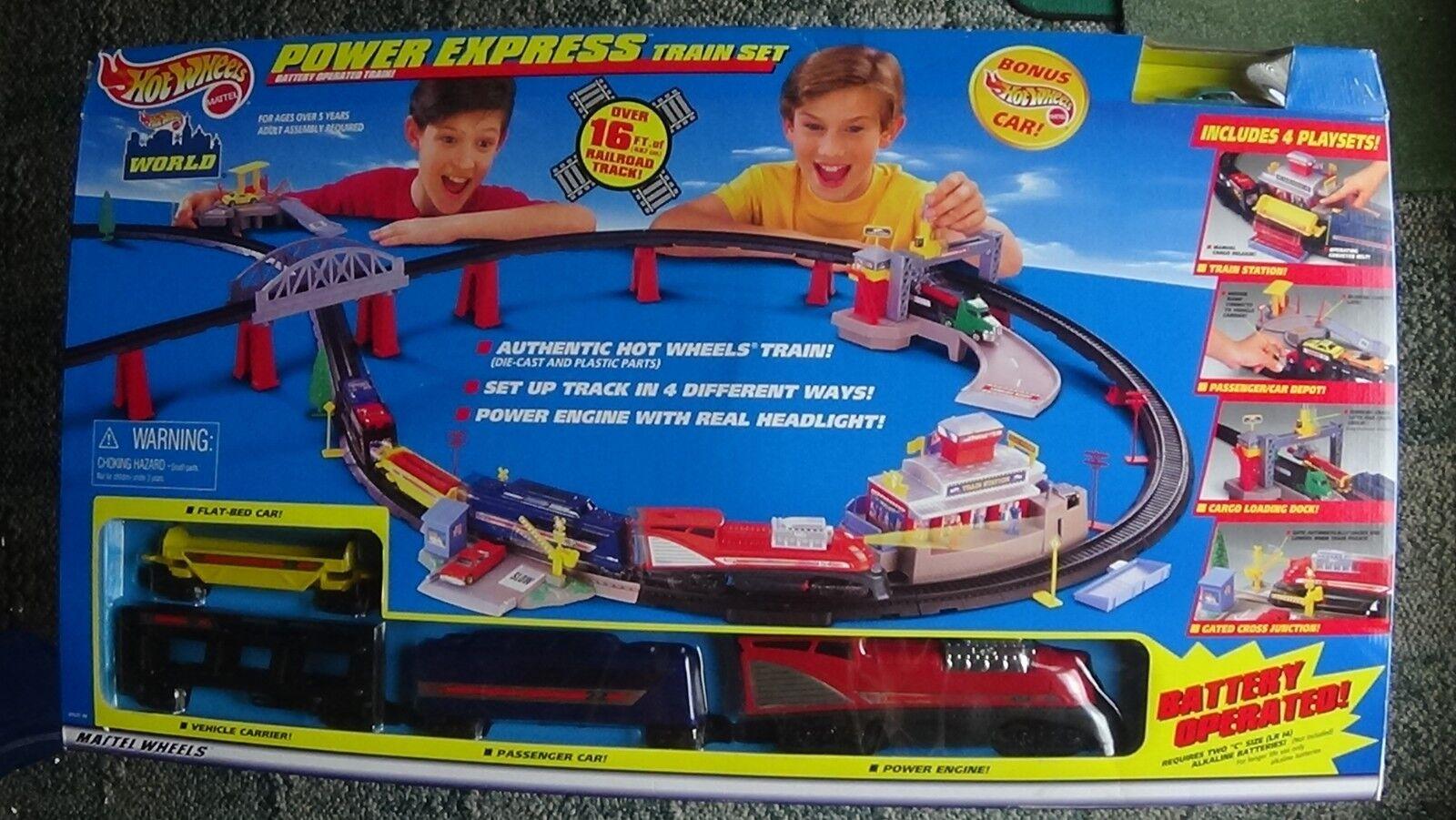 Hot Wtalons Power Express Train  Set with 4 Train voitures & 1 HW voiture nouveau IN BOX  site officiel