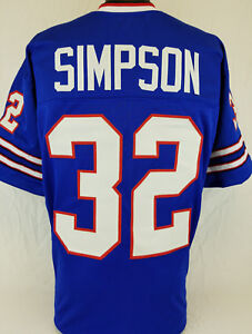 sale retailer 1ec8d 7430d Details about O.J. Simpson Unsigned Custom Sewn Blue Football Jersey Size -  L, XL, 2XL
