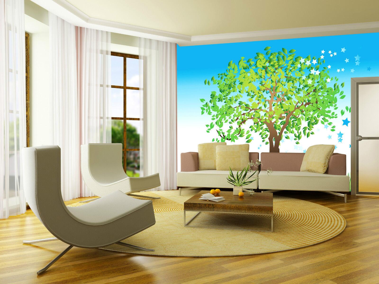 3D Grün grass trees 1B WallPaper Murals Wall Print Decal Wall Deco AJ WALLPAPER
