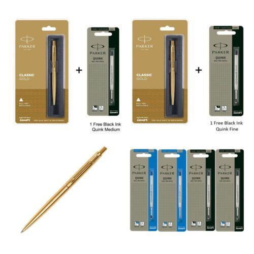 Black Ink Blue Ink Parker Classic GOLD GT Gold Body Ball Pen Ball Point Pen