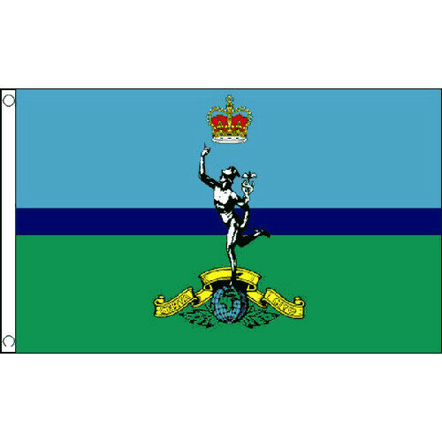 Royal Signals Corps Flag 5Ft X 3Ft British Army Military Banner With 2 Eyelets