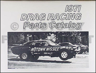 1968 1969 1970 1971 Drag Race Parts Book Roadrunner Belvedere Barracuda Valiant