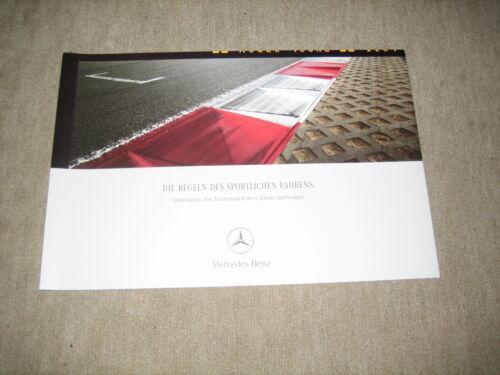 Prospekt Brochure von 7//2003 CL203 Mercedes C-Klasse Sportcoupé Indianapolis