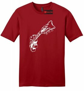 Guitar-Graphic-Tee-Music-Mens-Soft-T-Shirt-Guitarist-Gift-College-Band-Tee-Z2