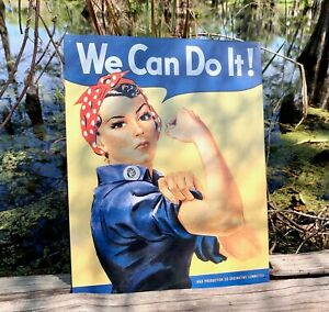 Rosie-The-Riveter-Vintage-Metal-Tin-Sign-Wall-Decor-Garage-Man-Cave-Home-Rustic