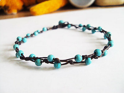 Smart Turquoise Anklets,blue Anklets,stone Anklets,beadwork Anklets,men Anklets,women Aesthetic Appearance Jewelry & Watches Fashion Jewelry