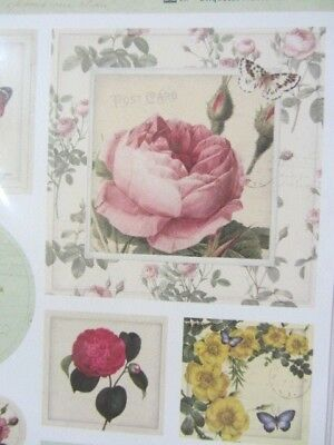 docrafts Papermania Botanicals Label Stickers For Cardmaking /& Scrapbooking
