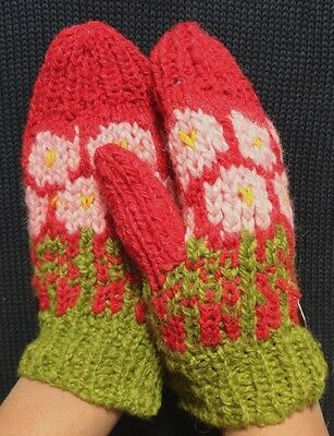 HAND KNITTED GLOVES ALPACA  AND SHEEP WOOL WARM n HIGH QUALITY NEW ANDEAN