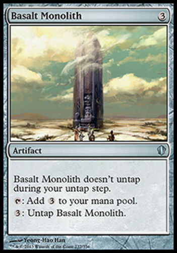 CMD2013 MTG BASALT MONOLITH EXC MAGIC MONOLITO DI BASALTO