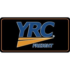 Yrc Freight Lines Logo On Black Background License Plate Made In Usa Ebay