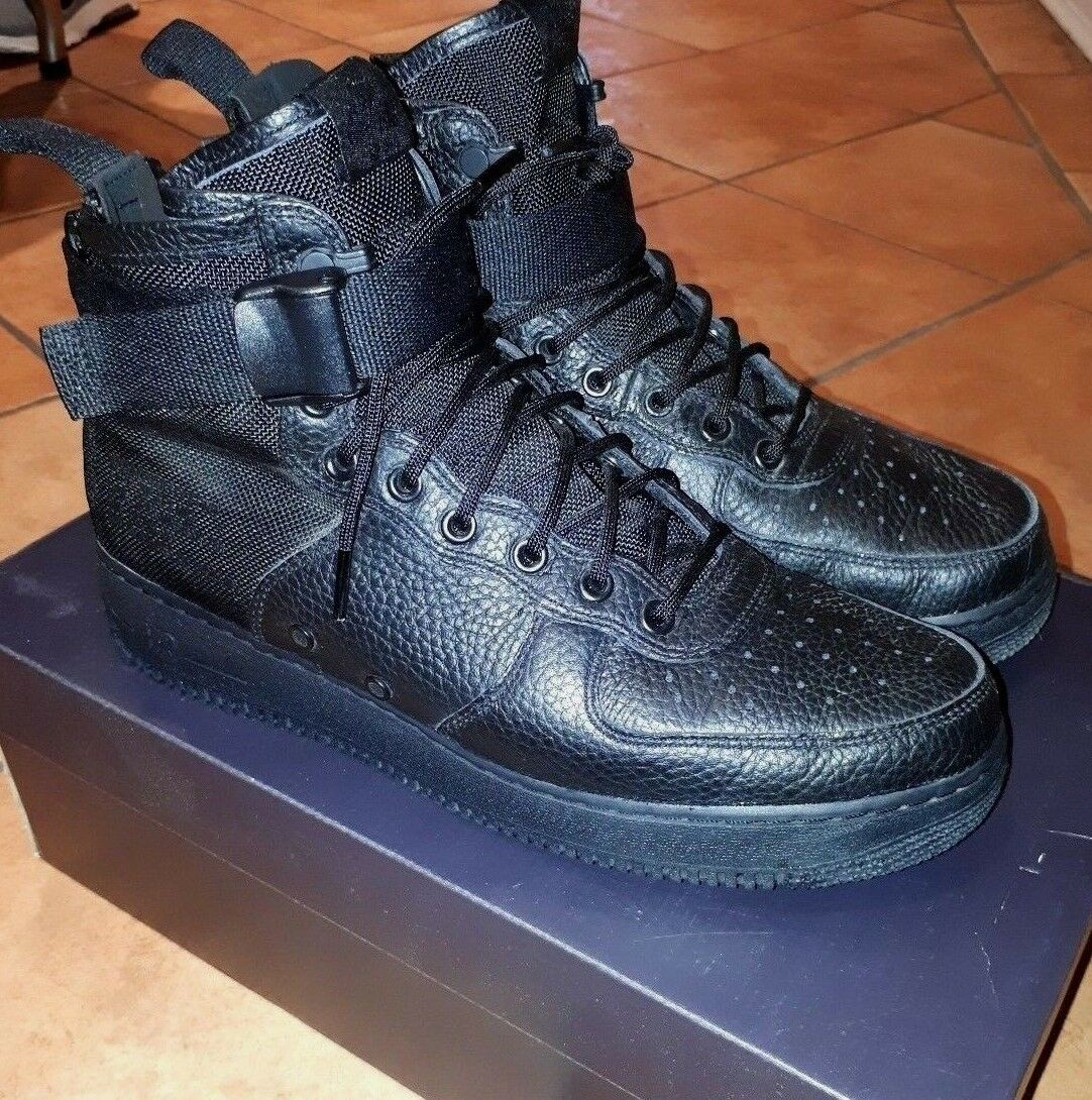Men's Nike Air Force One SF Mid Sneakers - Size 10.5 - Triple Black