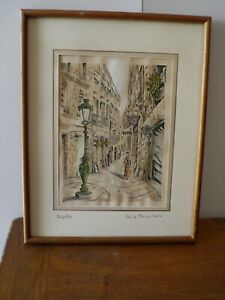 un-gravure-de-Montpellier-rue-du-l-039-ancien-coumier