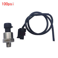 0-100psi Linear 0.5-4.5V Gas Fuel Air Liquid Pressure Sensor Transducer Sender