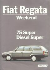 Fiat Regata Weekend Prospekt 3/85 sales brochure 1985 Auto PKW Broschüre Italien