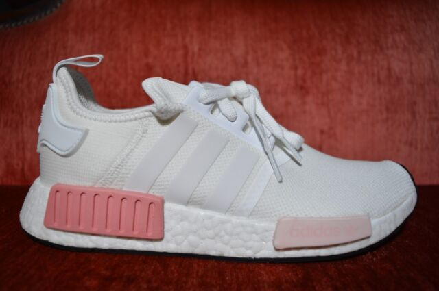 outlet store 1f612 bc610 Adidas NMD R1 Originals Nomad Runner White Rose Pink New Women Size 10  BY9952