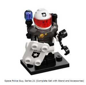 Lego Space Police Guy, Series 21 (Complete Set with Stand and Accessories)