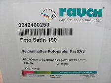 2,50€/1m - 30m Rolle Rauch Foto Satin 190 - Fotopapier Seidenmatt Fast Dry 610mm